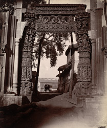 View of the gateway known as the Jhula Darwaza, Rewa.